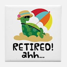 Retired Turtle Retirement Gift Tile Coaster