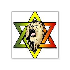Judah Lion - Reggae Rasta! Square Sticker 3