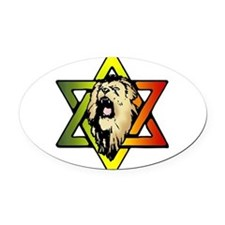Judah Lion - Reggae Rasta! Oval Car Magnet