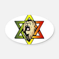 Judah Lion - Reggae Rasta! Oval Car Magnet