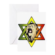 Judah Lion - Reggae Rasta! Greeting Card