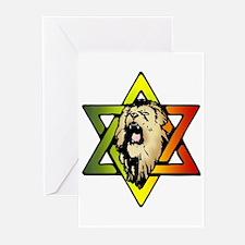 Judah Lion - Reggae Rasta! Greeting Cards (Pk of 1