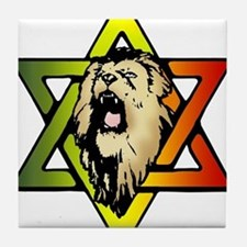 Judah Lion - Reggae Rasta! Tile Coaster