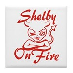 Shelby On Fire Tile Coaster