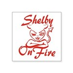 Shelby On Fire Square Sticker 3