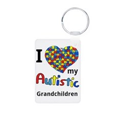 Autistic Grandchildren Aluminum Photo Keychain