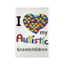 Autistic Grandchildren Rectangle Magnet