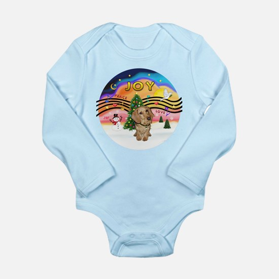 XMusic2-Wire H. Dachshund Long Sleeve Infant Bodys