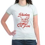 Shirley On Fire Jr. Ringer T-Shirt