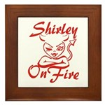 Shirley On Fire Framed Tile