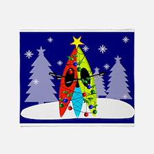 Kayaking Christmas Card Gails.PNG Throw Blanket