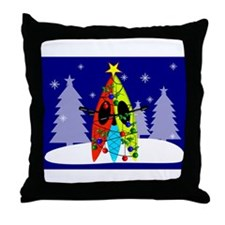 Kayaking Christmas Card Gails.PNG Throw Pillow