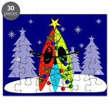 Kayaking Christmas Card Gails.PNG Puzzle