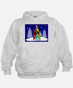 Kayaking Christmas Card Gails.PNG Hoodie