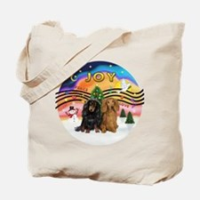 XMusic2-Two Long H. Dachshunds Tote Bag