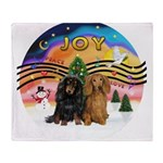 XMusic2-Two Long H. Dachshunds Throw Blanket