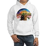 XMusic2-Two Long H. Dachshunds Hooded Sweatshirt