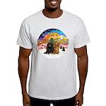 XMusic2-Two Long H. Dachshunds Light T-Shirt