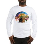 XMusic2-Two Long H. Dachshunds Long Sleeve T-Shirt