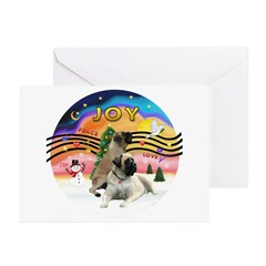XM2-Two Bull Mastiffs Greeting Cards (Pk of 10)
