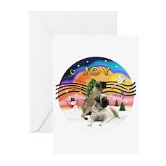 XM2-Two Bull Mastiffs Greeting Cards (Pk of 20)