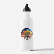 XM2-Two Bull Mastiffs Water Bottle