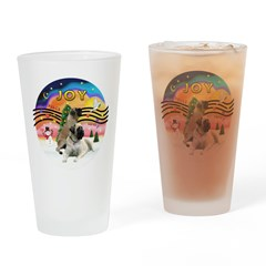XM2-Two Bull Mastiffs Drinking Glass