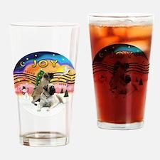 XM2-Two Bull Mastiffs Drinking Glass