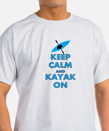 KEEP CALM AND KAYAK BLUE.PNG T-Shirt