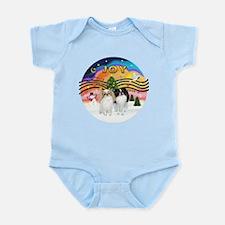 Music2-2Jap Chins (Lem+BW) Infant Bodysuit