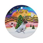 XMusic2-JackRussell6 Ornament (Round)