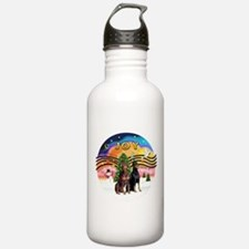 XMusic2-Two Dobermans Water Bottle