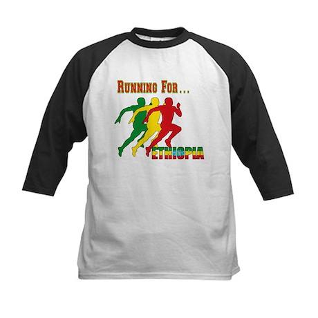 Ethiopia Running Kids Baseball Jersey