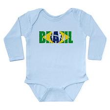 Brazil Logo Long Sleeve Infant Bodysuit