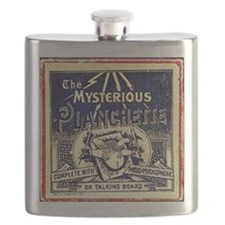 Vintage Ouija Mystery planchette Ad Flask