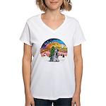 XMusic2-Cesky T (slt) Women's V-Neck T-Shirt
