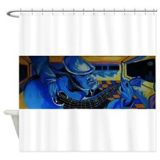just playing the blues Shower Curtain