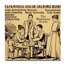 Vintage ouija talking board Ad Tile Coaster