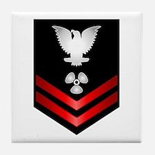 Navy PO2 Machinist's Mate Tile Coaster