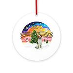 XMusic2 - Brittany Spaniel Ornament (Round)