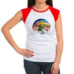 XMusic2 - Brittany Spaniel Women's Cap Sleeve T-Sh