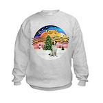 XMusic2 - Brittany Spaniel Kids Sweatshirt