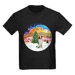 XMusic2 - Brittany Spaniel Kids Dark T-Shirt