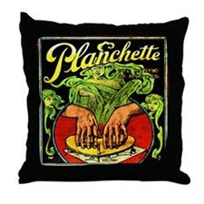 Vintage Ouija planchette Throw Pillow