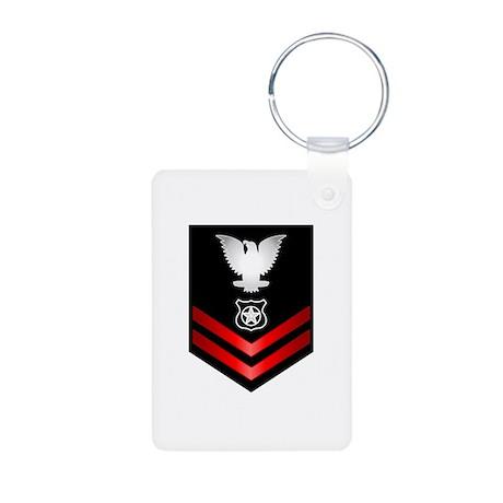 Navy PO2 Master at Arms Aluminum Photo Keychain