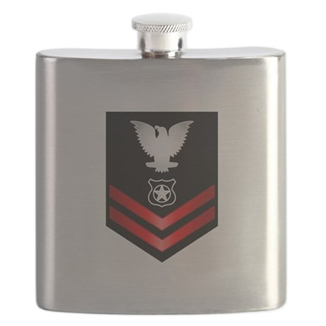 Navy PO2 Master at Arms Flask