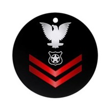 Navy PO2 Master at Arms Ornament (Round)