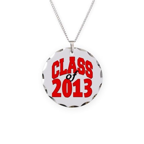 Class of 2013 (red) Necklace Circle Charm