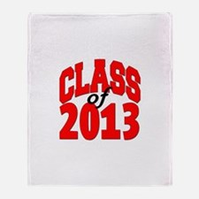 Class of 2013 (red) Throw Blanket