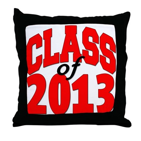 Class of 2013 (red) Throw Pillow